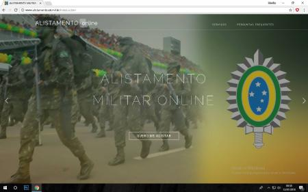 Alistamento militar pode ser feito online