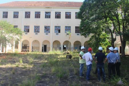 Empresários da Zanc visitaram a obra do antigo Seminário Seráfico