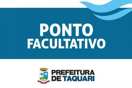 Prefeitura realizará ponto facultativo na próxima segunda-feira