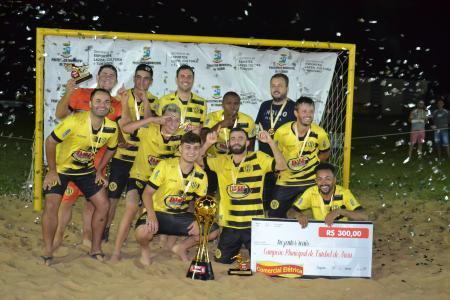 Danados vence Furacão e conquista o Municipal de Futebol de Areia