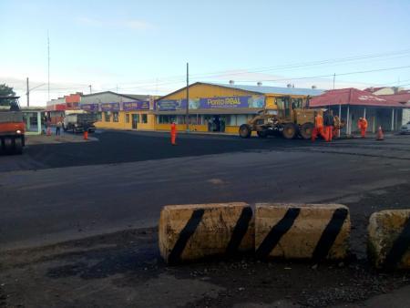 Vias no entorno da Estação Rodoviária recebem recapeamento asfáltico
