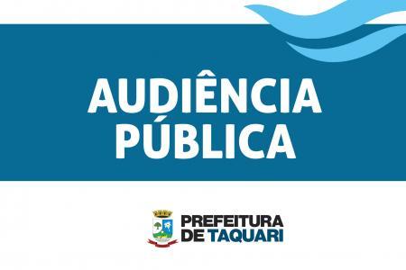Prefeitura fará audiência pública para avaliação de metas
