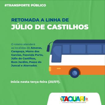 Linha ônibus retorna no interior de Taquari nesta semana