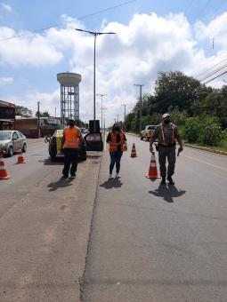 Ação de conscientização no trânsito foi realizada em Taquari